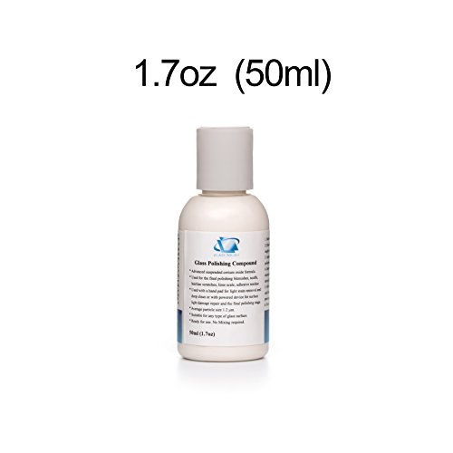 GP14003 Fine Grade Glass Polishing Compound, Glass Polishing Solution 1.7oz - Glasses Remover Scratch