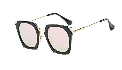 gafas color la LSHGYJ powder las de moda la gafas Black GLSYJ gafas en Square box personalidad películas sol mercury de sol EqqZ4w