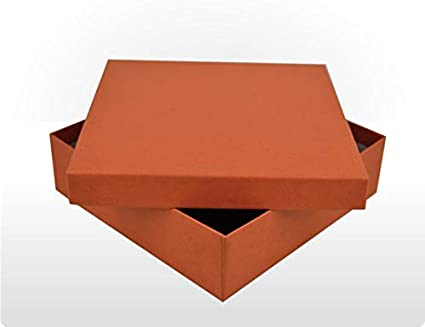 Caja de regalo rígida, cartón de 16,5 cm x 16,5 cm x 4,8