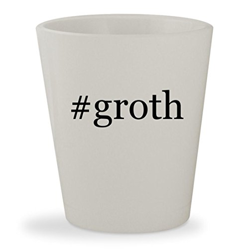 Price comparison product image #groth - White Hashtag Ceramic 1.5oz Shot Glass