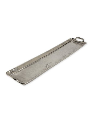 Ingot Collection - Abbott Collection 30-INGOT/8284 Large Long Handled Tray, 8x40 inches, Silver