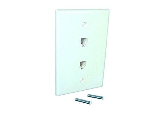 Leviton 40544-W Midsize Telephone Wall Jack, White