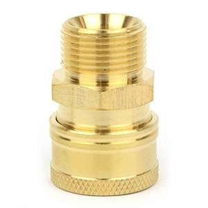Interstate Pneumatics PW7152 Pressure Washer M22 Male Brass Coupler 4000 PSI by Interstate Pneumatics