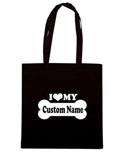 T-Shirtshock - Bolsa para la compra FUN1114 custom name 50288 Negro