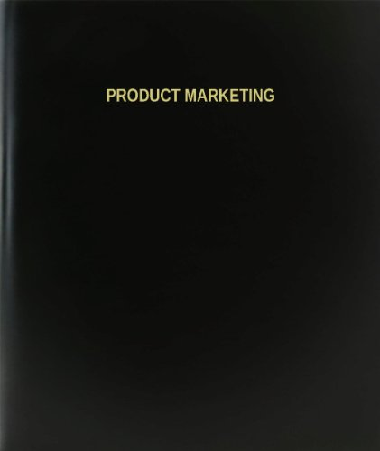 BookFactory® Product Marketing Log Book / Journal / Logbook - 120 Page, 8.5''x11'', Black Hardbound (XLog-120-7CS-A-L-Black(Product Marketing Log Book)) by BookFactory