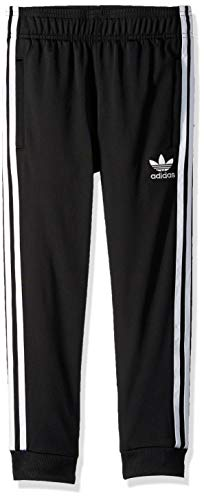 adidas Originals Boys' Big Superstar Pants, black/white, Medium (Adidas Track Pants For Boys)