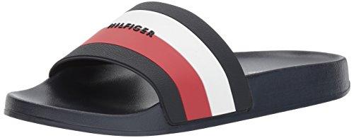 Tommy Hilfiger Women's DRIA Flip-Flop, Signature, 8 M US (Tomy Shoes Boys)