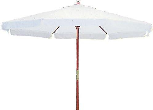 Sombrilla redonda de madera con lona de algodón, 350 centímetros de diámetro, cm poste de 50 mm de diámetro: Amazon.es: Jardín