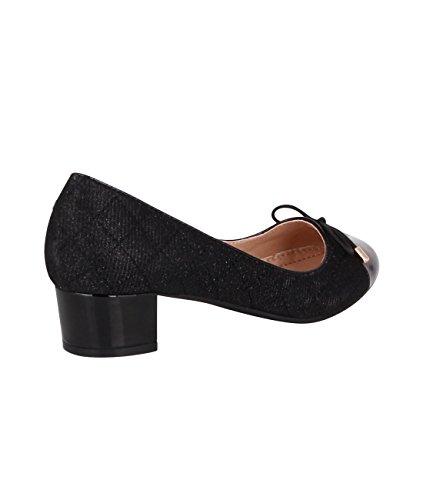 KRISP Bailarinas Mujer Zapatos Planos Vestir Primavera Verano 2017 Negro (17144)