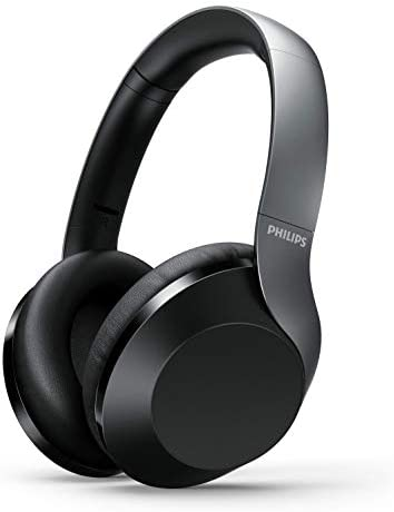 Philips PH805 Active Noise Canceling (ANC) Over Ear Wireless Bluetooth Performance Headphones w/Hi-Res Audio, Comfort Fit and 30 Hours of Playtime (TAPH805BK)