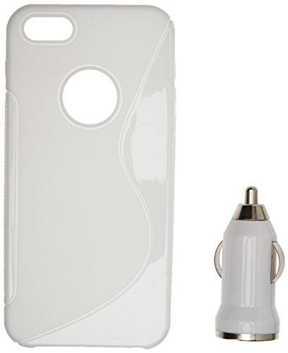 24/7 kaufhaus- Transparent GEL silikon schutz Hülle case cover tasche Mit Displayschutzfolie & KFZ -