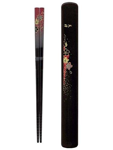 Happy Sales HSKS8/R, Red Floral Chopsticks in (Red Lacquer Chopsticks)