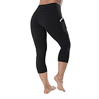 "QYQ Women's Workout Yoga Shorts with Pockets, 6"" /4"" High Waist Athletic Biker Running Shorts, Plus Size Non See-Through"