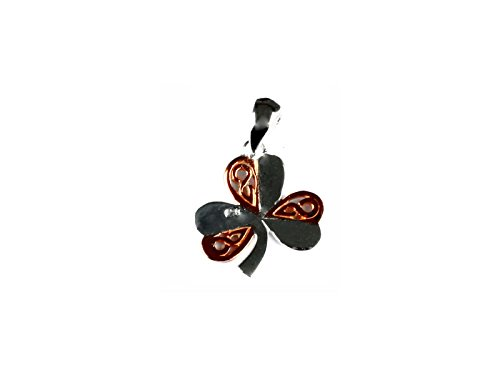 Celtic Desire joyas irlandés suerte Plata Rosegold bañado en diseño de trébol colgante: Amazon.es: Joyería