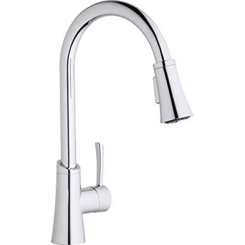 Elkay LKGT3031CR Gourmet Chrome Single Lever Pull-down Spray Kitchen Faucet ()