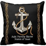Best Anchor Gifts - Lightinglife Monogram Initials Nautical Rope Anchor Custom Pillow Review