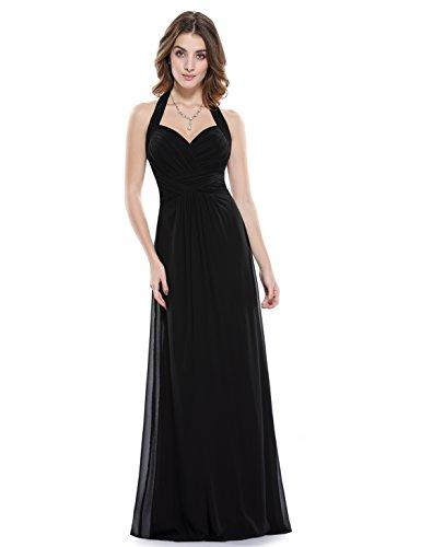 black floor length formal dress - 4