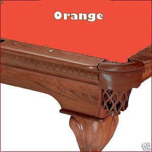 8' Oversize Orange ProLine Classic 303 Billiard Pool Table Cloth Felt by PROLINE