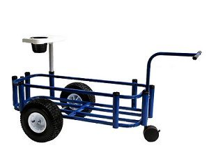 Reels on Wheels PCCART-Blue Fishing Cart Sr. Blue Powder Coat 16'x44' 8-rod Holder
