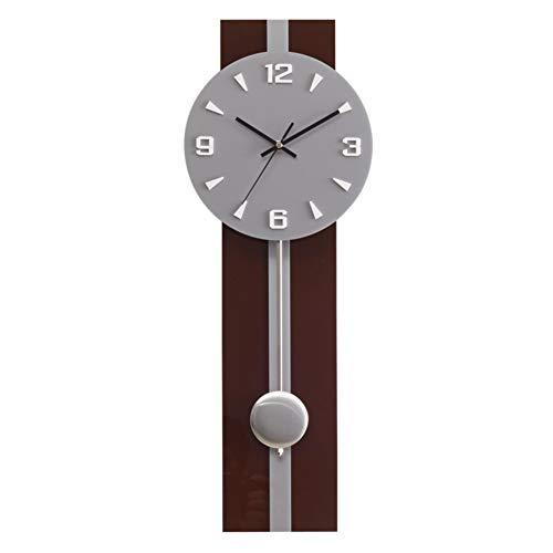 JIAOHJ Rectangular Clocks,Wall Clocks,Living Room Clocks,Modern/Simple/Hanging Watches, Mute/Craft Clocks,Personality/Creative/Art Pendulum Clocks,Gray,Diameter:22inches
