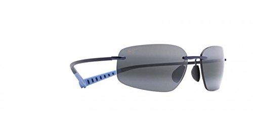 Maui Jim Kupuna 742-06 | Polarized Blue Rimless Frame Sunglasses, Neutral Grey Lenses, with Patented PolarizedPlus2 Lens ()