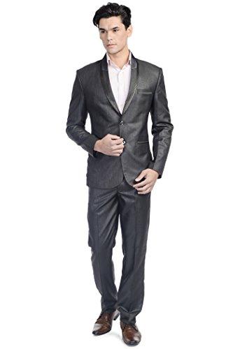 Wintage - Costume - col à revers - Manches Longues - Homme -  Noir - S