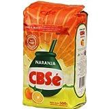 100% natural orange flavored Yerba Mate with stems. Grown and processed by CBSe S.A., Product of Argentina. 100% Yerba Mate natural con sabor a naranja. Manufacturado y estacionado naturalmente por CBSé. Producto de Argentina.