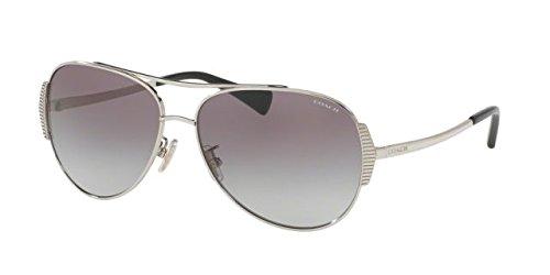 COACH Women's 0HC7067 Silver/Black - Coach Sunglasses Usa