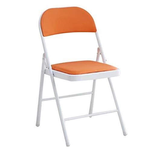 Yunyisujiao hopfällbar stol utomhus bärbar stol hem dator stol läder kontorsstol vuxen ryggstöd stol enkel lounge-stol liten konferensstol (färg: svart, storlek: 45 x 47 x 78 cm)