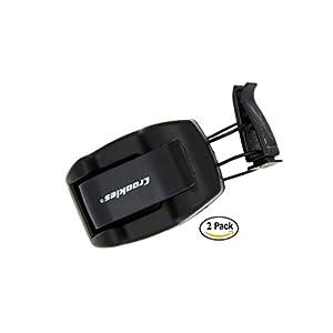 Croakies Shade Dock Car Sunglass and Eyeglass Automobile Shade Visor Clip, Black (2 Pack)