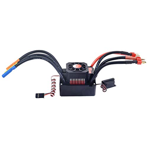 - Hongxin rc esc ,Waterproof Sensorless Brushless ESC 150A Speed Controller for 1/8 RC Car Buggy,Cooling Fan