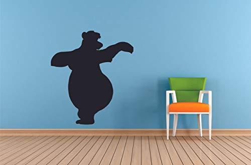 Sloth Bear Baloo Jungle Book Animal Zoo Wall Sticker Art Decal for Girls/Boys Kid Room Bedroom Nursery Kindergarten Garage House Cute Fun Home Decor Sticker Wall Art Vinyl Decoration Size (20x18 inch)