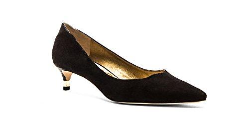 Sam Edelman Women's Laura Dress Pump, Black Suede, 8 M ()