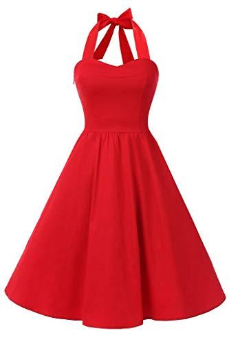 Topdress-WomensVintage-Polka-Audrey-Dress-1950s-Halter-Retro-Cocktail-Dress