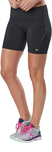 R-Gear Women's Recharge Compression 6-inch Shorts with Pockets | Use for Running, Gym or Base Layer, Black, - Inch Fit Reflective Dri 7 Short