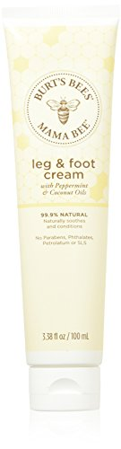 Burt's Bees Mama Bee Leg & Foot Cream with Peppermint Oil, 3.38 Ounce Tube - Pack of 2 (Packaging May Vary)