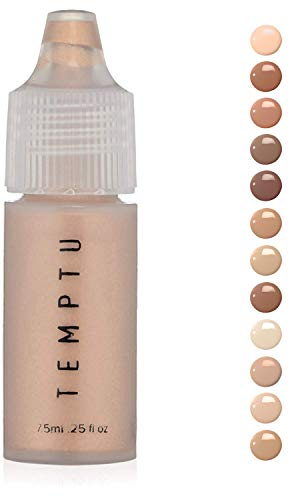 Temptu S/B Foundation Liquid Make Up: Natural Silicone Foundations for Air Brush, Sponge or Brush Application – Long Lasting Full Coverage Face Makeup with No Oil or Paraben – Pure Beige.25 Oz