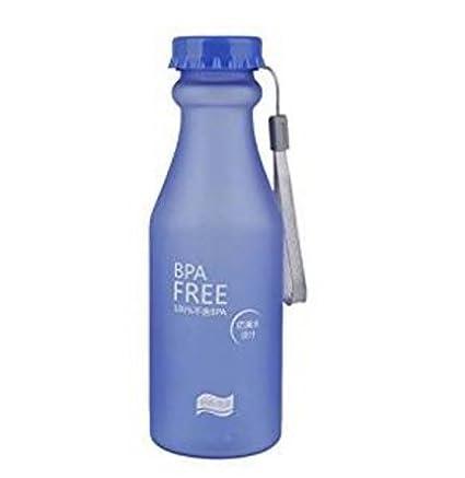 Fendii Botella de soda de plástico esmerilado para deportes, botella de cristal sellado, 550