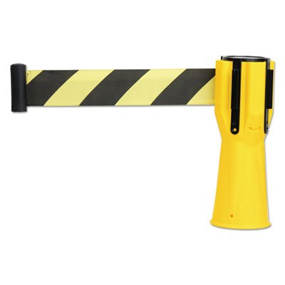 Safety Cone Topper Belt, 3 1/2 x 9 ft, Yellow/Black, Plastic/Nylon (7 Pack) by Tatco (Image #1)