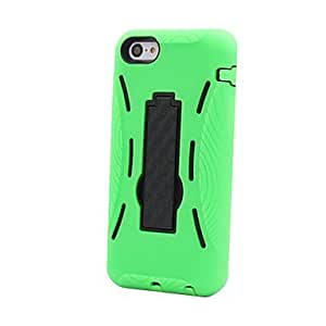 Kick Stand 3in1 Hard Case for iPhone 5C(Assorted Colors) --- COLOR:Rose