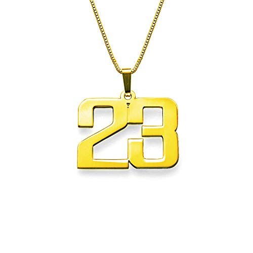 LAOFU Customized Jewelry for Men - Personalized Charm Number Necklace - Gift for ()