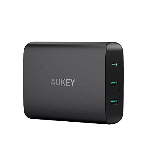 Aukey USB C Ladegerät mit 60W Power Delivery 3.0 & 2 Ports USB Netzteil für...