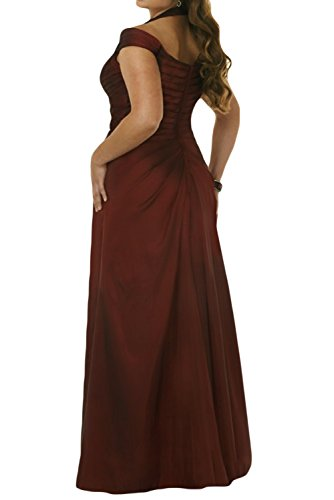Ivydressing Hellblau Lang Taft Damen Brautbegleiterinkleid Abendkleid Stillvoll von der Ab Schulter wxAFgrwvq