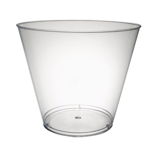 Party Essentials N92521 Hard Plastic Tumbler, 9-Ounce Capacity, Clear (Case of 500)