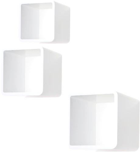 Quadratisches Regal sigel mc110 3er set wand regale mycube weiß quadratisch 3