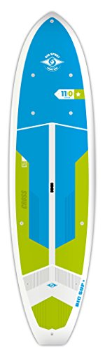 (BIC Sport ACE-TEC Cross Sup Stand Up Paddleboard, Adventure Gloss White/Blue/Green, 11'0