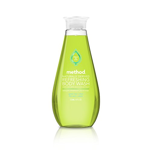 Method Refreshing Body Wash, Green Tea + Aloe, 18 Ounce (6 Count)