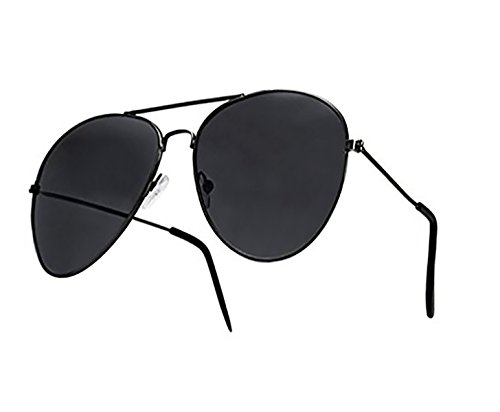Mujer y Lente Completo Para Diseño 4sold Sol UV400 de Negro con Hombre Silver de Retro Gafas Moda Para BZqOx