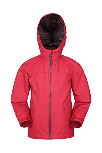 Mountain Warehouse Torrent Kids Waterproof Rain Jacket - Mesh Lined Red 9-10 Years