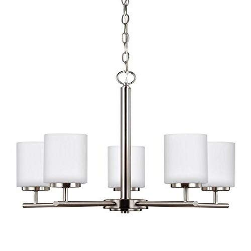 Sea Gull Lighting 31161-962 Oslo Five Light Chandelier, Brushed Nickel Finish